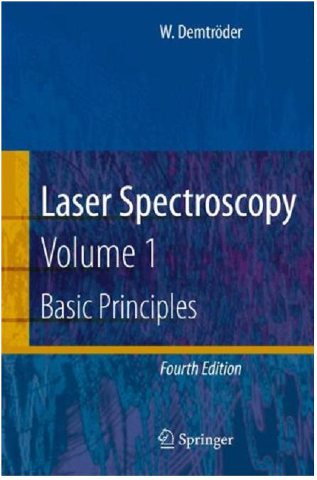 کتاب طیف سنجی لیزری جلد اول، ولفگانگ دیمترودر